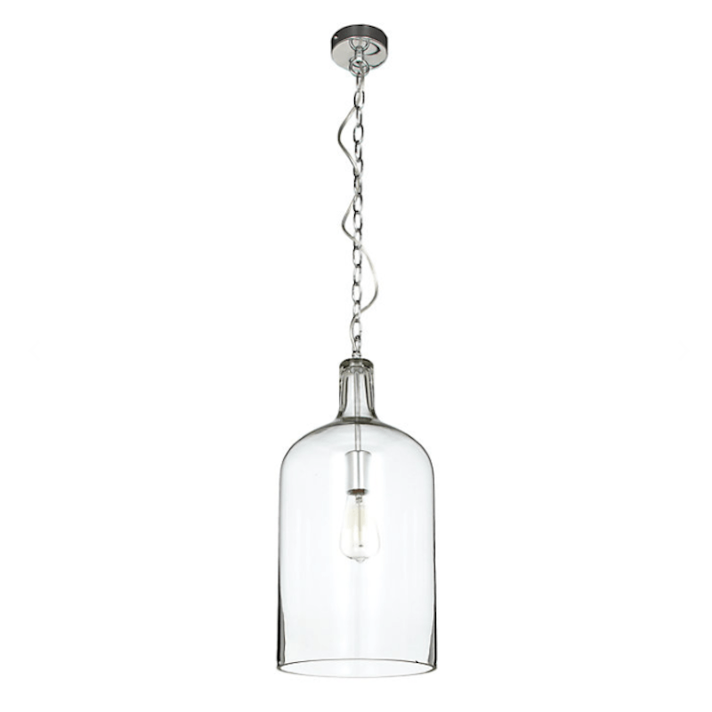Kendal Glass Pendant Light - Chrome