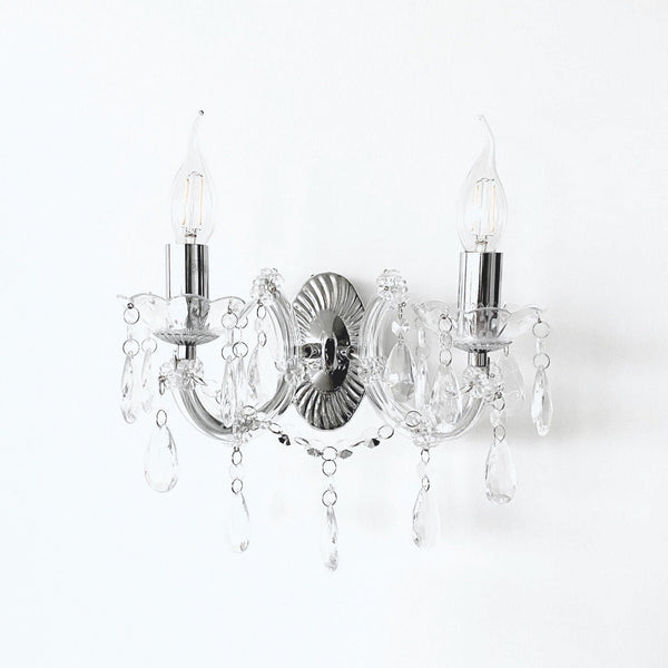 Grace Wall Chandelier 2 Light - Chrome