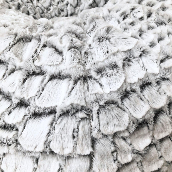 Cashmere Fur Bean Bag - Silver White