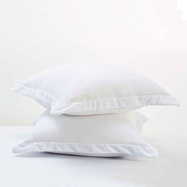 two European fur velvet pillowcases stacked on top of each other