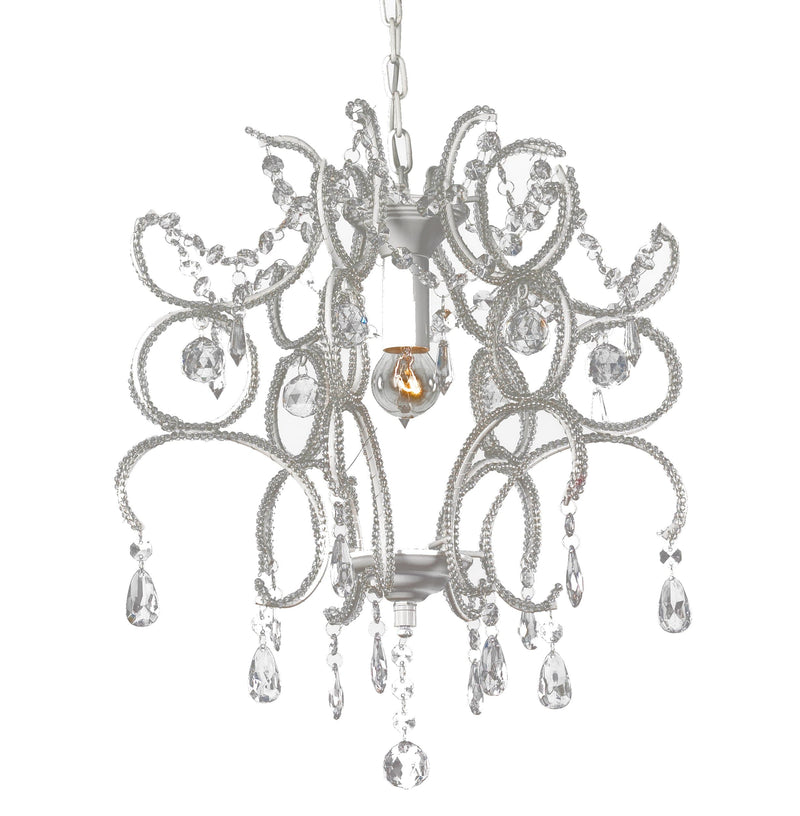 Shabby White Jewel Crystal Chandelier