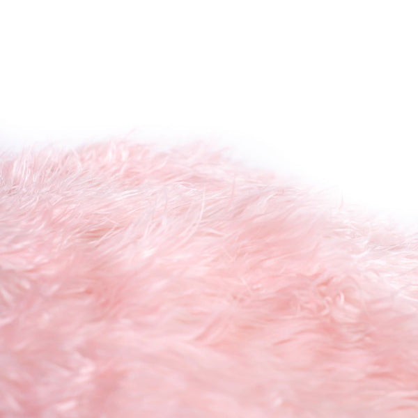 closeup of a soft fluffy pink beanbag