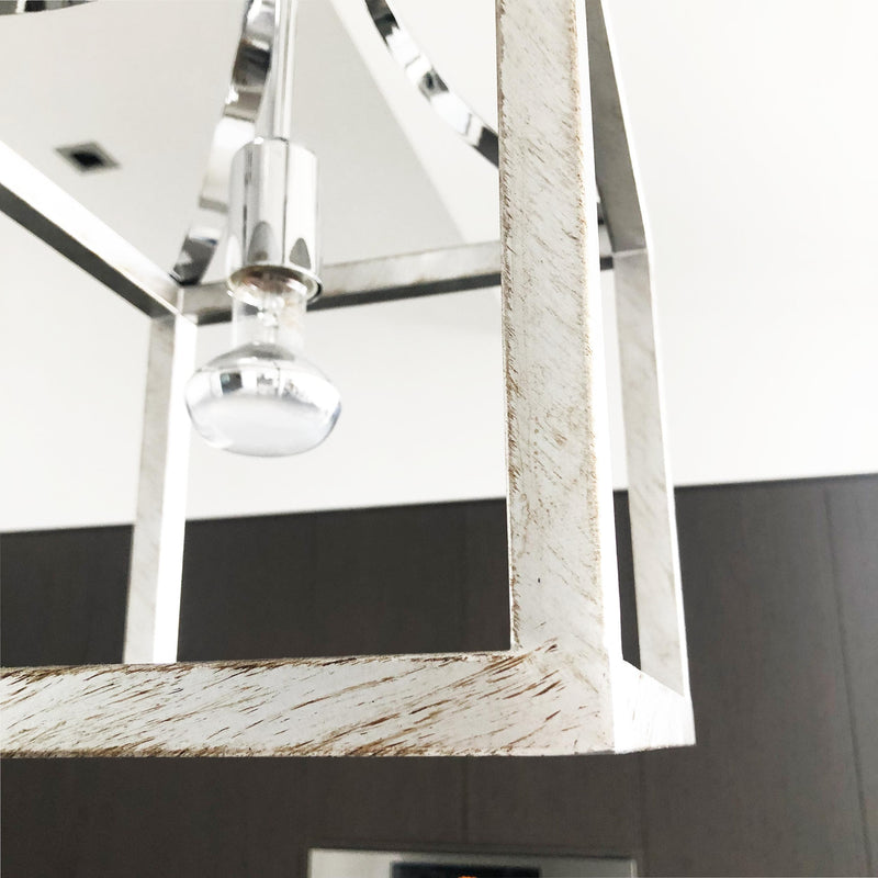 close up of hampton box pendant kitchen dining ceiling light