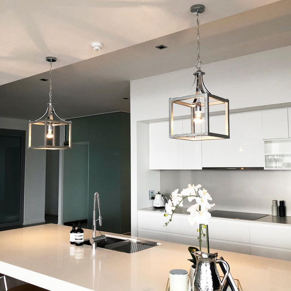 hampton box pendant kitchen dining ceiling light