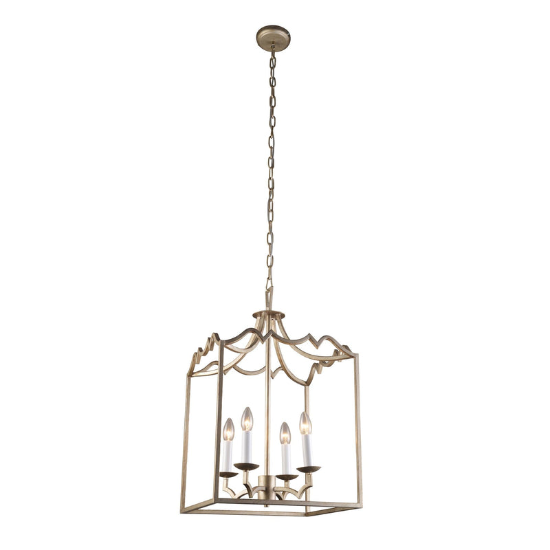 grand box pendant lantern light on a white background