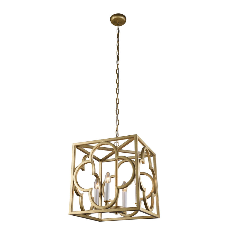 modern box frame lantern pendant light on a white background