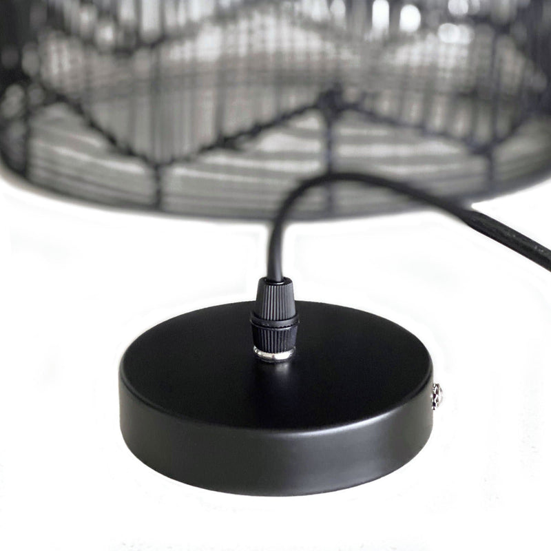 black rattan lace cane pendant light ceiling fixture