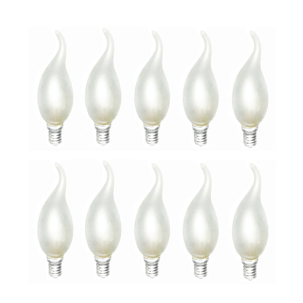 E14 Flame Tip Chandelier Frosted Candle Globes