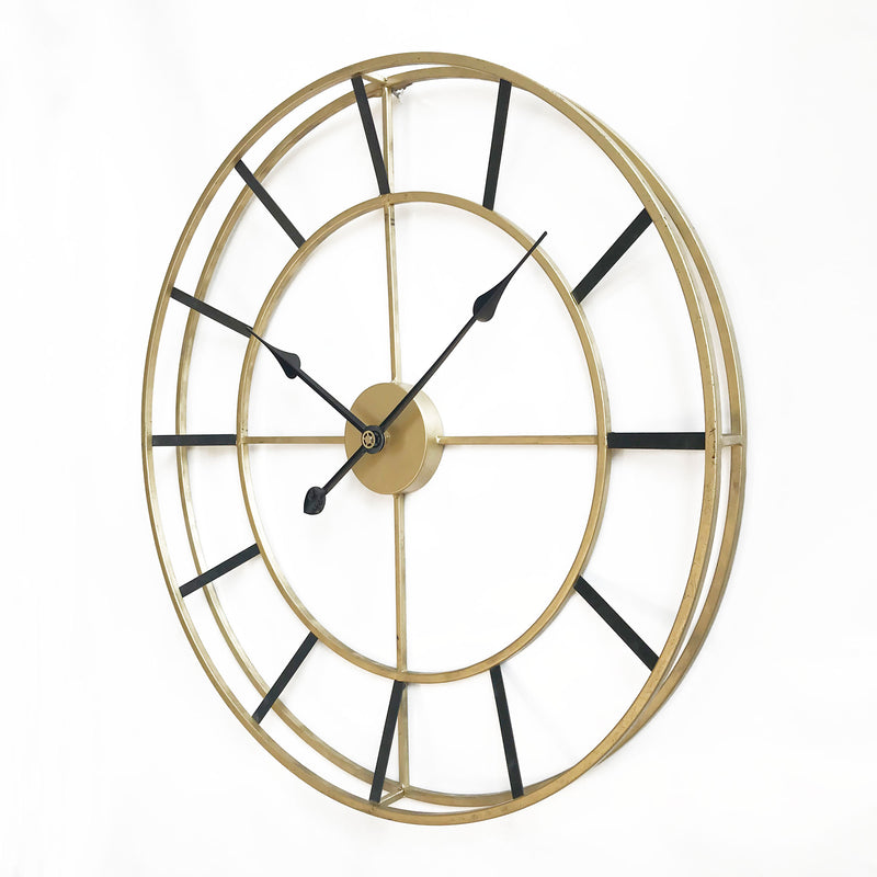 Large Metal Wall Clock - Oxford