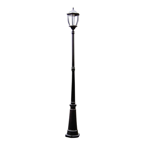 solar garden lamp post on a white background