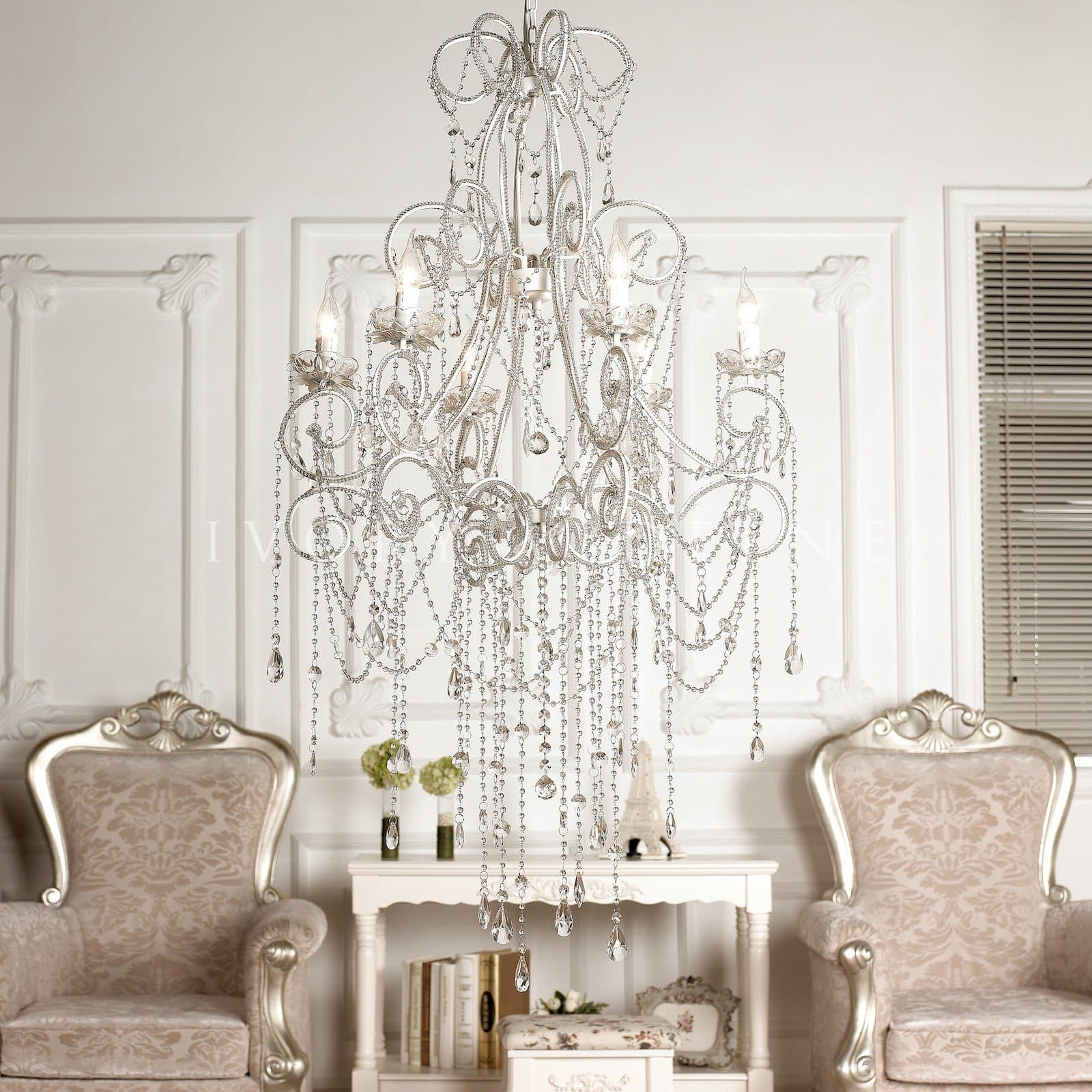 Large French Provincial 6 Light Anastasia Chandelier