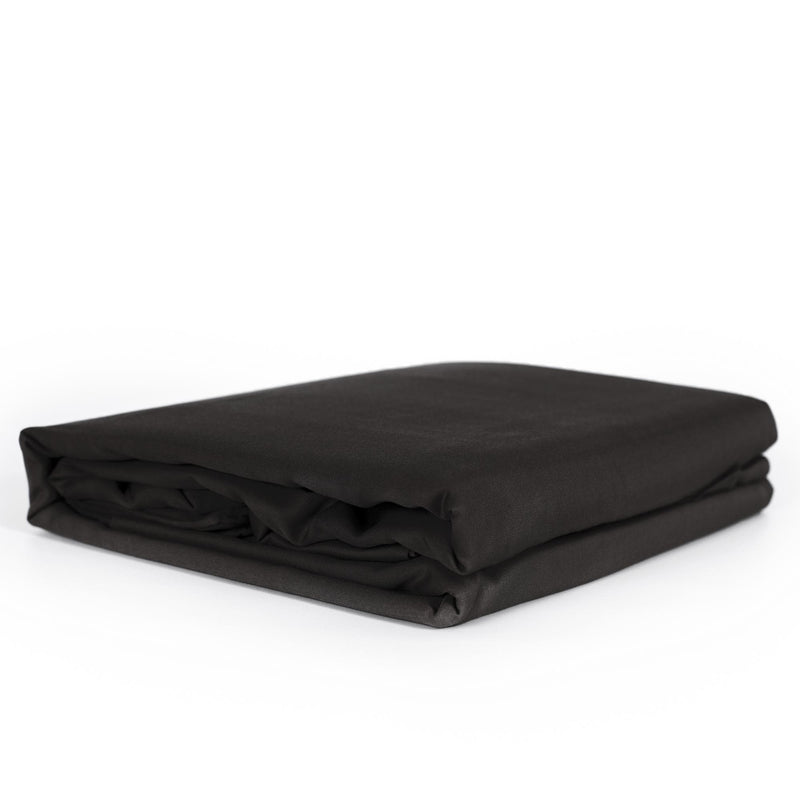 folded black bamboo quilt cover