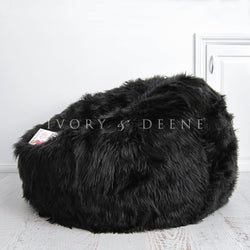 Lush Fur Bean Bag - Black