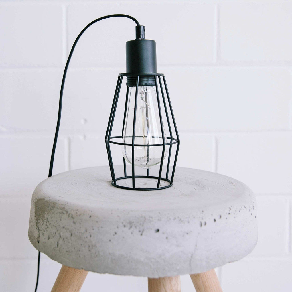 Black Industrial Cage Pendant Light for Kitchen, Dining & Living ...