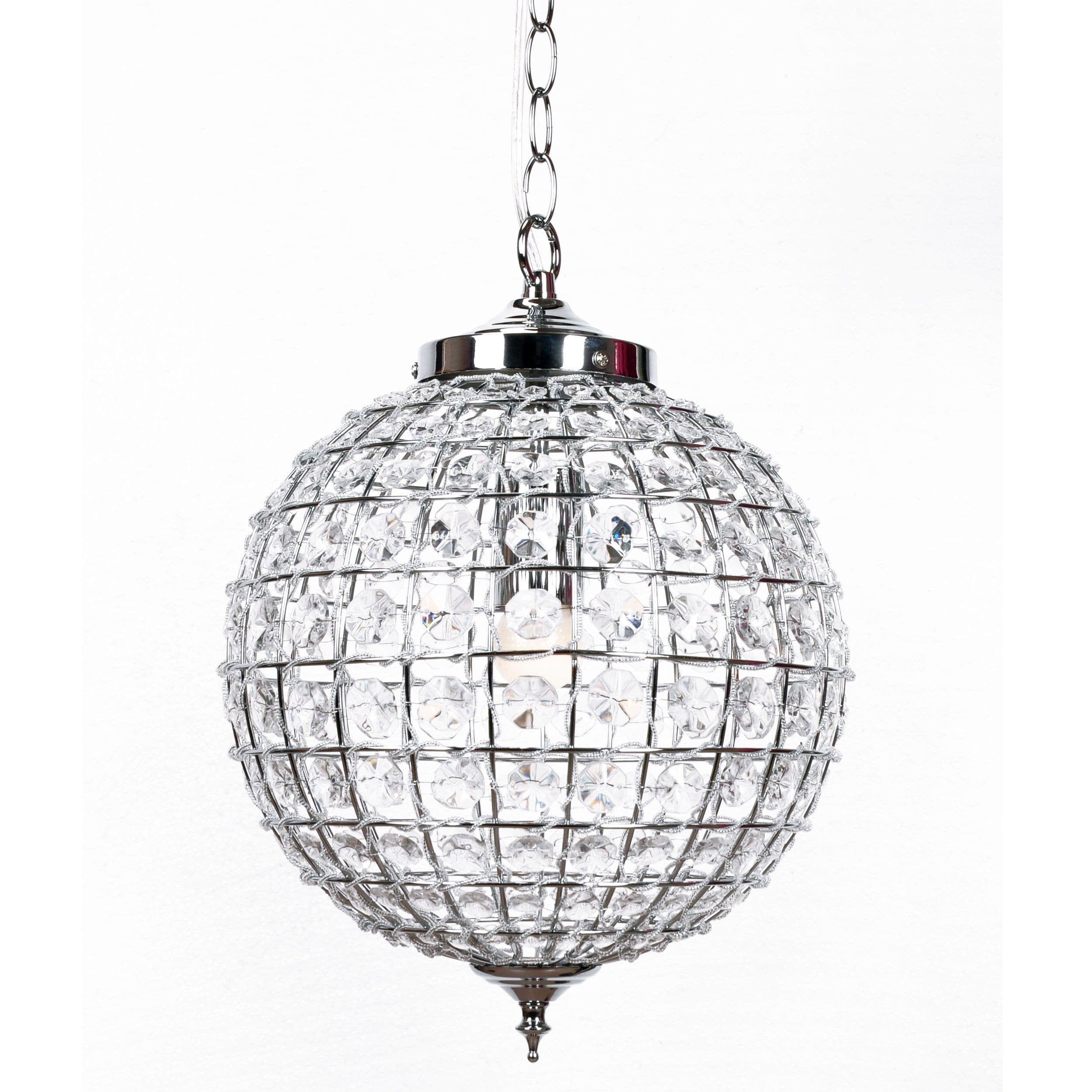 Casablanca pendant chandelier brass 2 sizes available ivory large casablanca crystal ball chandelier with polished chrome fittings on a white background arubaitofo Images
