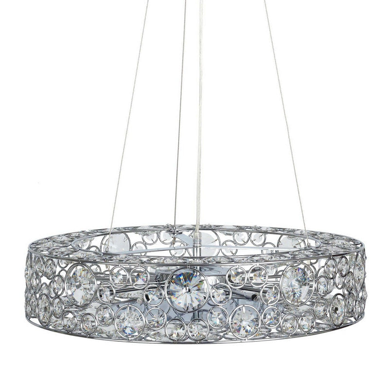 Chateau Crystal Pendant Light - Chrome