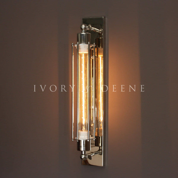 Polished Chrome Industrial Sconce Wall Lamp With Edison