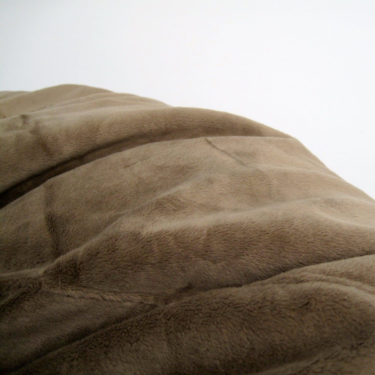 coffee coloured fur beanbag from Ivory and Deene