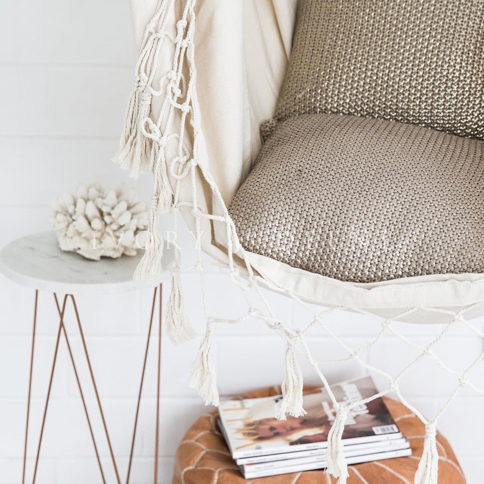 Provincial Hammock Chair - Cream