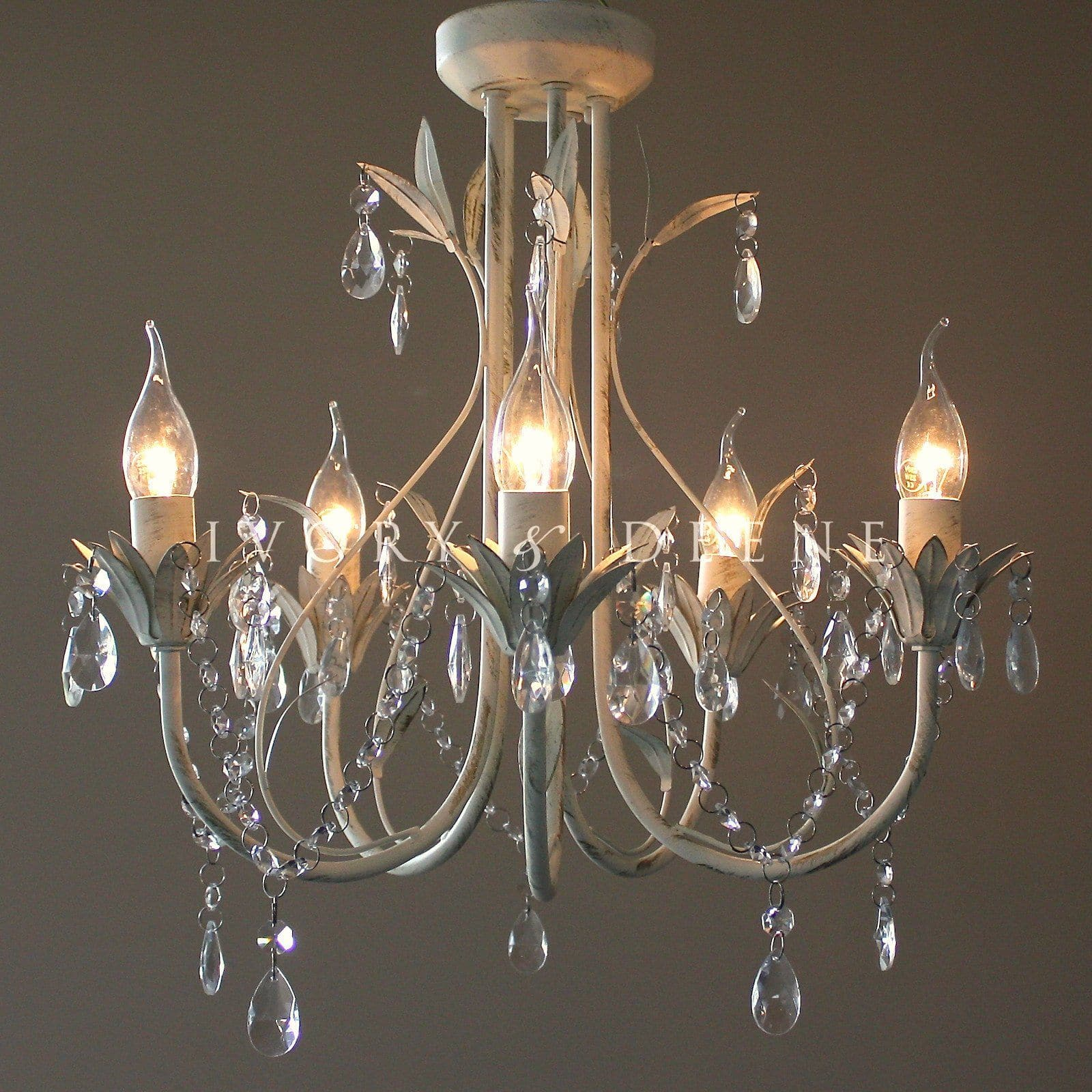 Chandelier 5 light french provincial harmony ivory deene pty ltd glass crystal french provincial chandelier 5 light pendant aloadofball Gallery
