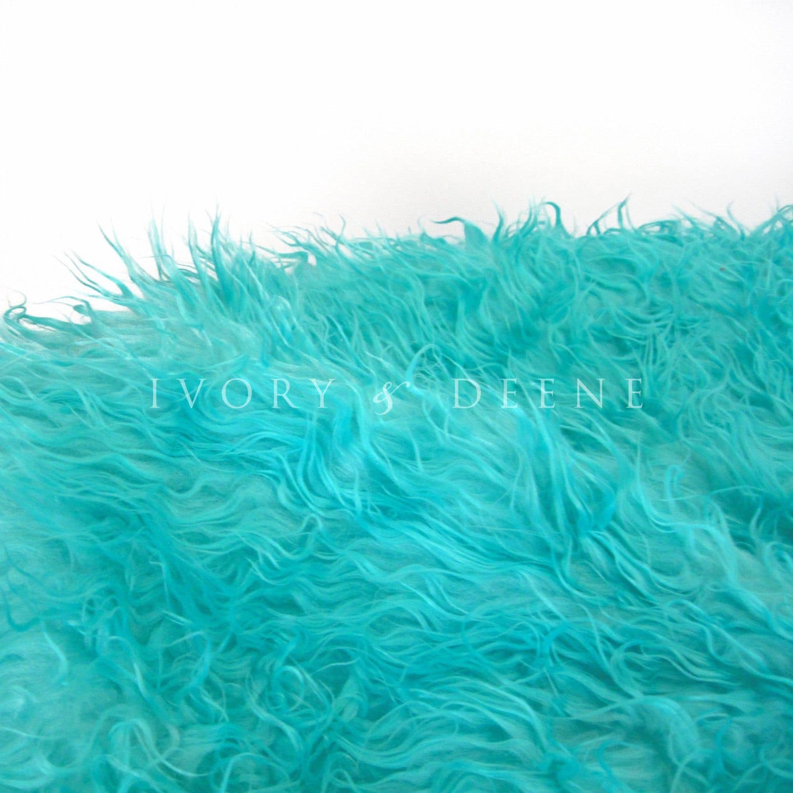 close up of fur bean bag from Ivory and Deene