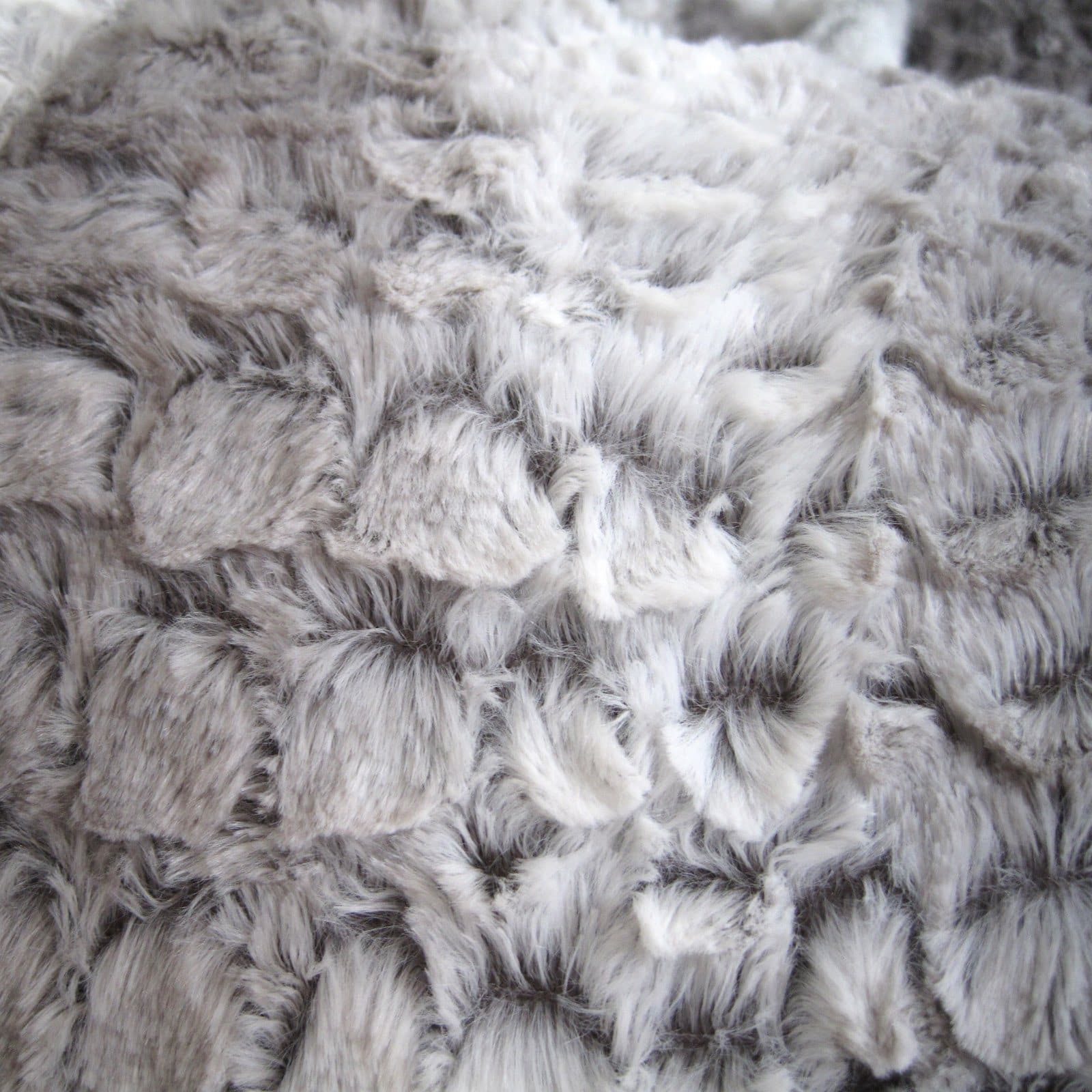 Fur Bean Bag - Silver Grey Husky