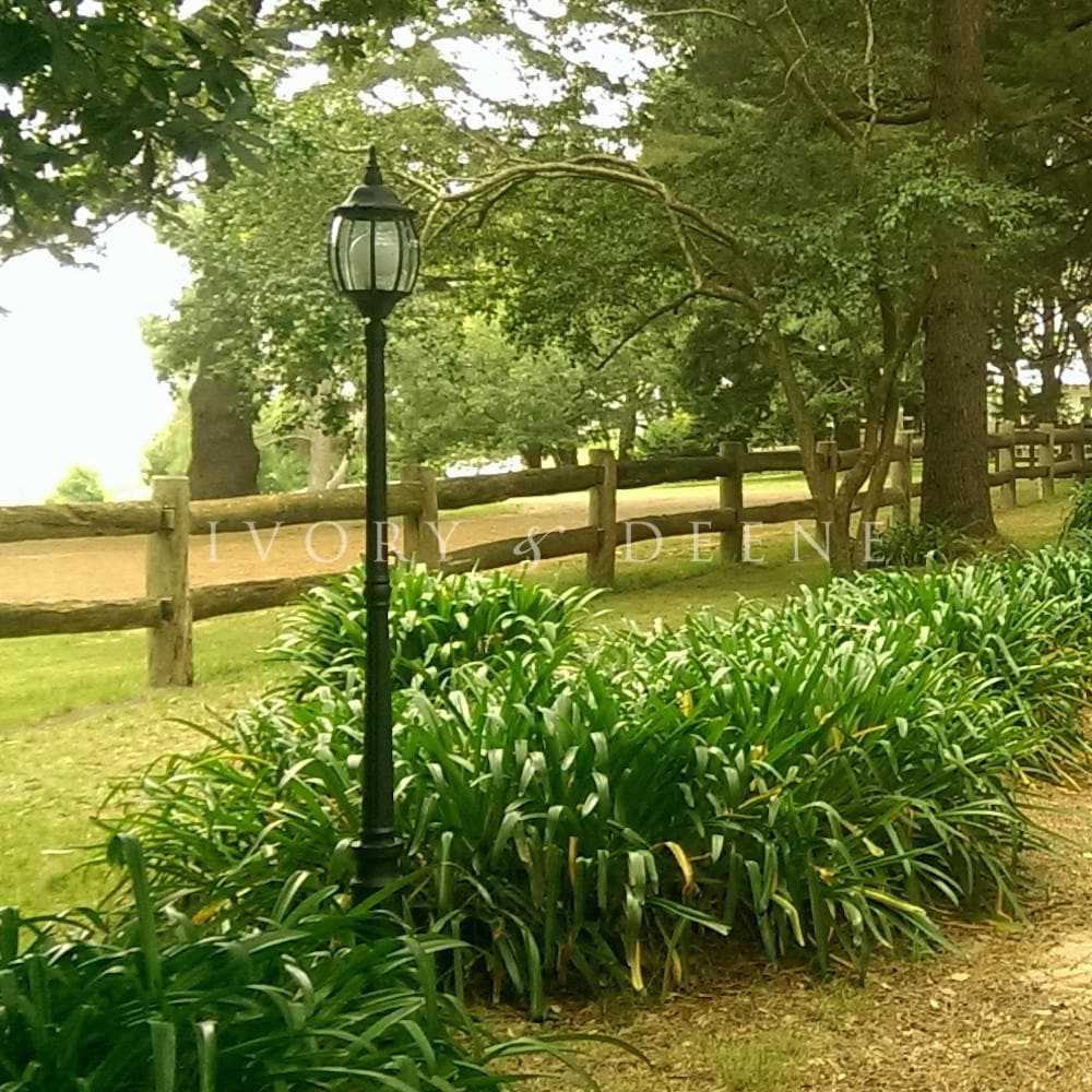 Garden Lamp Post Victorian Style - Black
