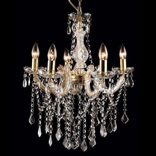 Allure Chandelier 5 Light - Gold