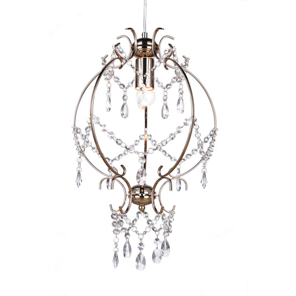 gold stage coach cinderella chandelier on a white background