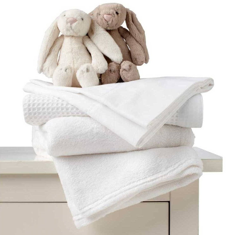 bamboo sheet set for baby cot crib white with teddies