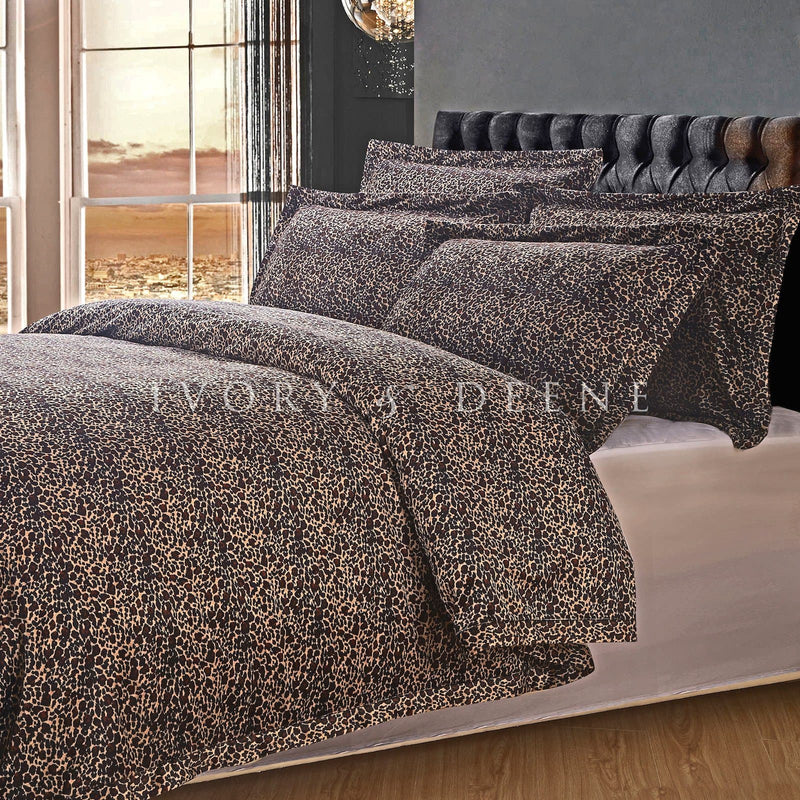 Luxury Fur Doona Cover - Leopard