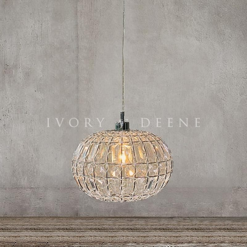 LILY PENDANT LIGHT Chic Round Crystal Ball