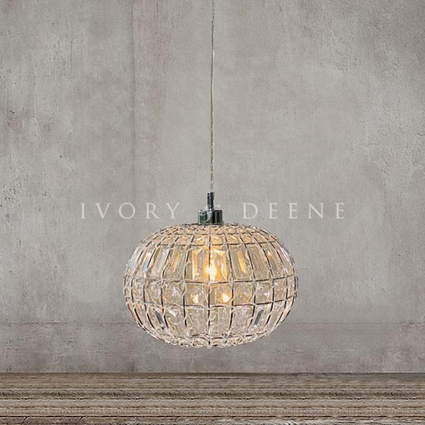 Lily Pendant Light Chic Round Crystal Ball Hanging Lamp