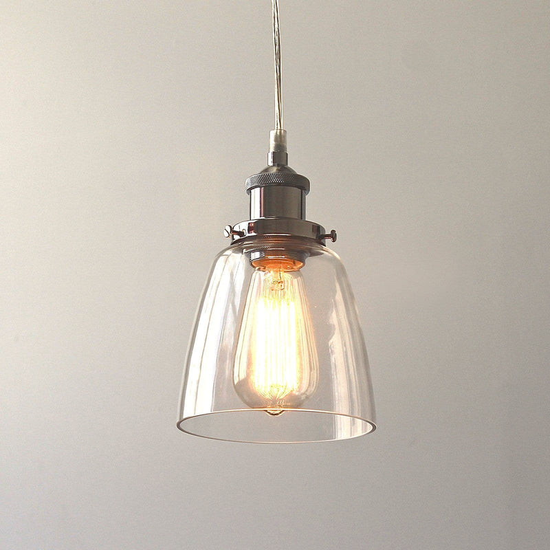 Lucy Glass Pendant Light - Chrome