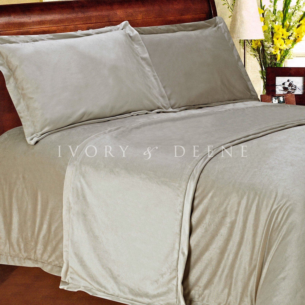 New Luxury Soft Mocha Latte Sand Fur King Size Bed Runner