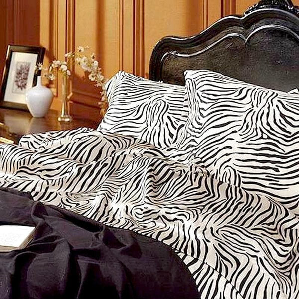 Satin Sheet Set - Zebra Print