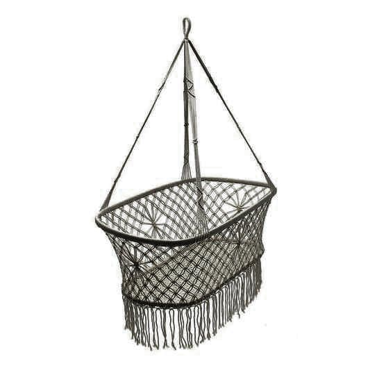 baby cot crib indie grey macrame bassinet crib suitable to use with a dockatot