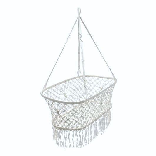 baby cot crib indie white macrame bassinet crib suitable to use with a dockatot