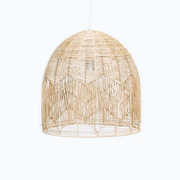 large natural rattan lace pendant light hamptons style