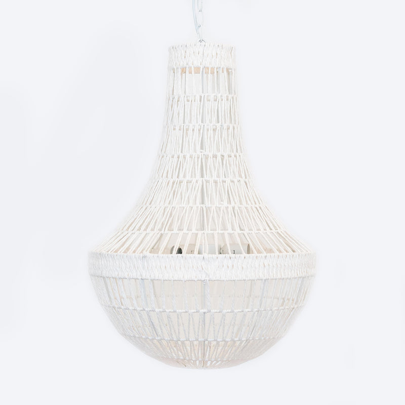 white rope empire pendant light hamptons coastal vibe