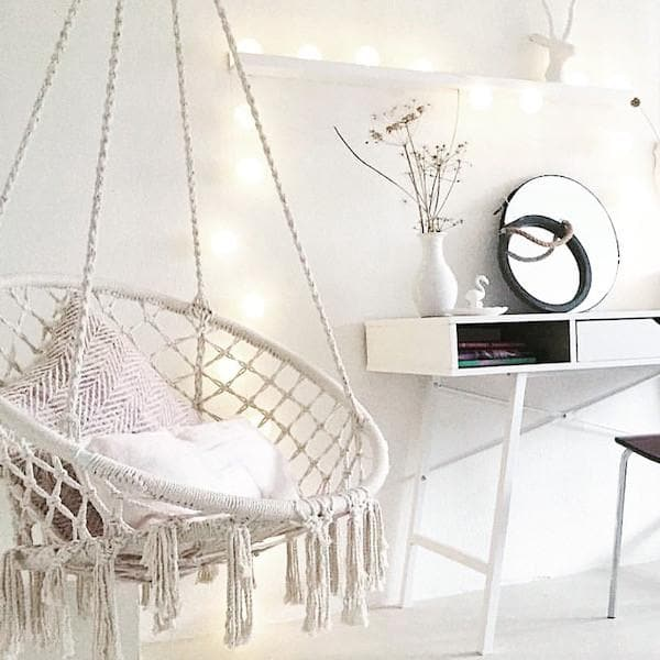 brazilian hammock chair swing in white room