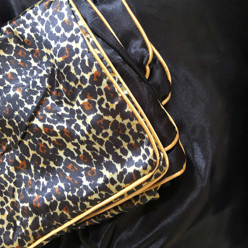 close up of leopard print fabric Ivory & Deene
