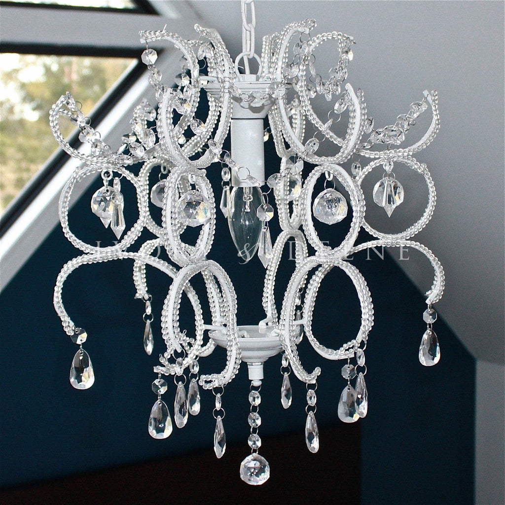 Shabby White Crystal Chandelier