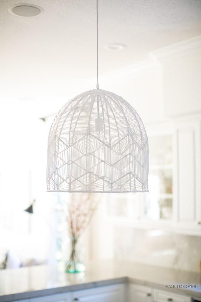 white wash amalfi rattan pendant light for hamptons vibe