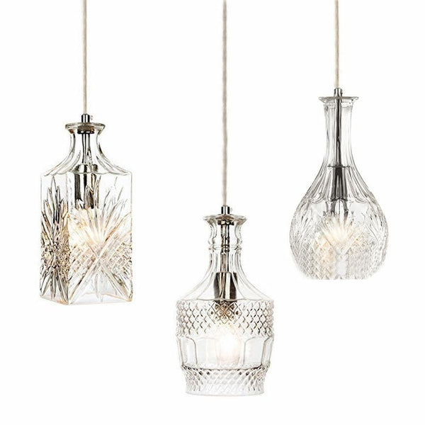 Wine Decanter Glass Pendant Light - Sherry