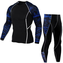 Load image into Gallery viewer, Winter Thermal Underwear Set Men's Sportswear Running Training Warm Base Layer Compression Tights Jogging Suit Men's Gym 2019
