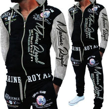 Load image into Gallery viewer, ZOGAA 2019 Brand Men Tracksuit 2 Piece Tops and Pants Mens Sweat Suits Set Letter Print Plus Size Jogger Sets for Men Clothing