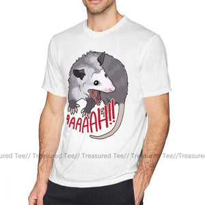Scream T Shirt Possum Scream At Own Ass T-Shirt Awesome Beach Tee Shirt Male XXX Short Sleeves Cotton Print Tshirt