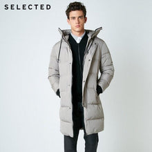 Load image into Gallery viewer, SELECTED 2019 New Winter Down Jacket Men's Zipper and Hat Casual Parka Clothes Medium-Long Coat  S | 418412503