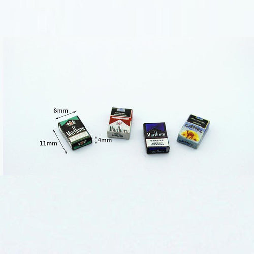 1/12 Dollhouse Miniature Accessories Mini Cigarette Case Simulation box Model Toys for Doll House Decoration Pretend Play Toys